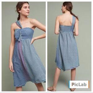Anthropologie Maeve Waverly Gingham Midi Dress